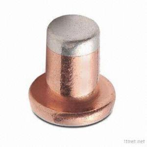 Trimetal Electrical Silver Contact Rivets