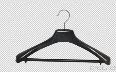 Black Plastic Clothes Coat Hanger
