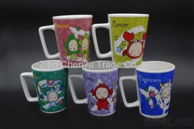 Decal Porcelain Coffee Mug Gift Product Promotion Can OEM