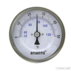 Bi-metal Thermometer (Crimp Bezel, Back Connection Type) (BTT)