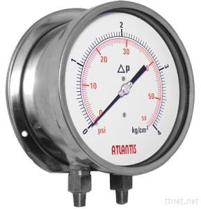 All Stainless Steel Differential Pressure Gauge (Helical tube type)