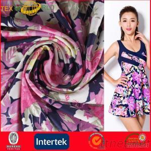 Elastic Weft Knitting Printed Fabric for Swimwear