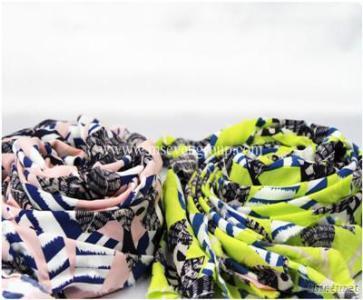 Wholesale 100% Staple Rayon Chiffon Fabric, Chiffon Printed Fabric For Dress