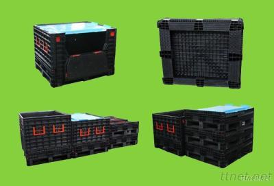 Collapsible Plastic Pallet Box For Logistics Use