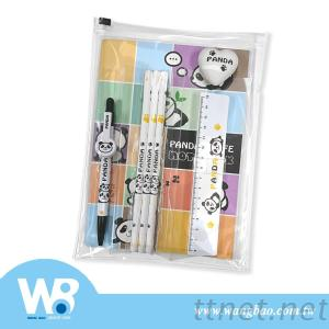 Panda Ballpoint Pen+Pencil Stationery 5-PC Set
