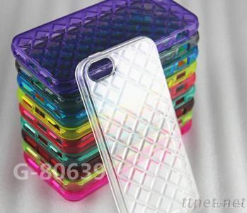 For iPhone 5 Simple Rhombus Style TPU Case