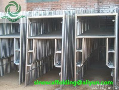 Steel H Frame Scaffolding Ladder Frame For Construction