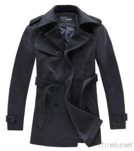 Men's Fashion Winter Worsted Long Windbreak Jacket Coats