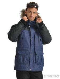 Men's Winter Hooded Down Parka Jacket Coats
