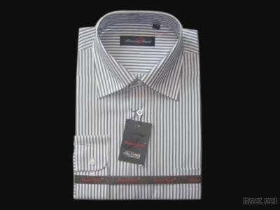 Customized stripes long sleeves dress shirt for men