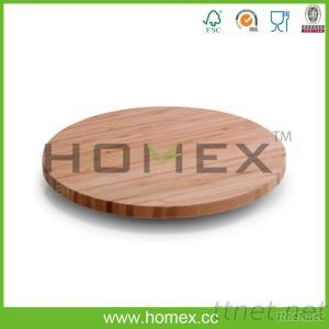 Bamboo Solid Lazy Susan/Table Turn/Revolving Tray