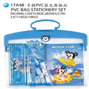 PVC Bag Stationery Set