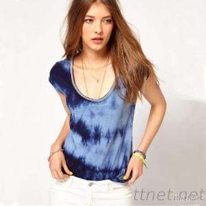 Wholesale New Fashion Tie Dye Women T Shirt Design