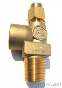 QF-2D Brass Oxygen Cylinder Needle Valve