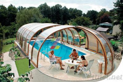 Grade a polycarbonate semidome pool enclosure for Plexiglass pool enclosure