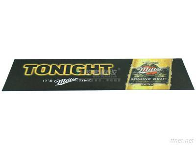 OEM Custom Advertising Soft Suede Imitate And Rubber Beer Bar Mat