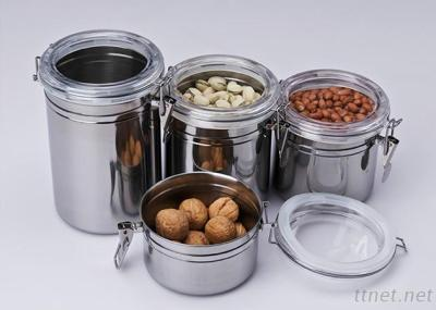 4Pcs Stainless Steel Airtight Kitchen Fresh Box / Storage Box / Canister Set Colorful Kitchen Canister Jar
