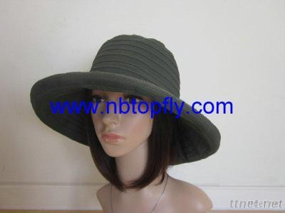 Ribbon Bucket Hats With Roll Brim