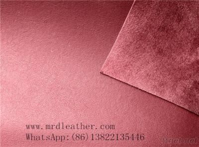 2016 Hotsale and good quality PVC suede leather for shoes and bags