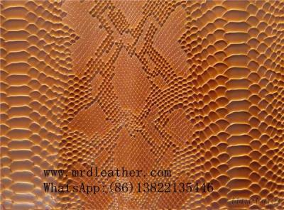 Printed snake pattern synthetic bag leather for bags