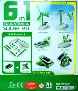 DIY 6 in 1 solar toy best for gift promotion