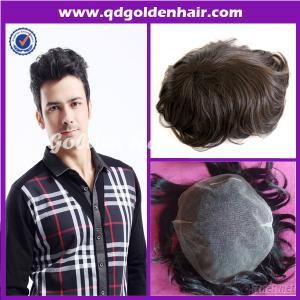 Remy Human Hair Piece For Men
