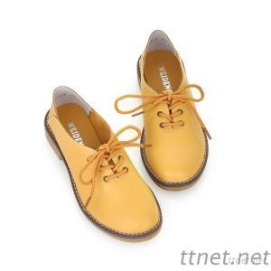 Work Boots Loafers, British Style Casual Shoes, Comfortable Flat With Leather Straps Shoes