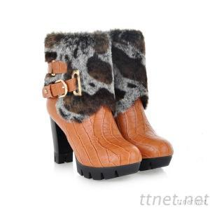 2013 Autumn And Winter High-Heeled Shoes New Hasp Thick Fur Boots
