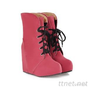 2013 New Winter Shoes Within The Higher Slope With Lace Boots