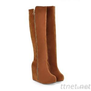 2013 Winter New Matte Shoes Within The Higher Slope With Zipper Boots