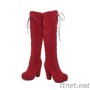 2013 New Women'S Autumn And Winter High-Heeled Boots Lace Thick