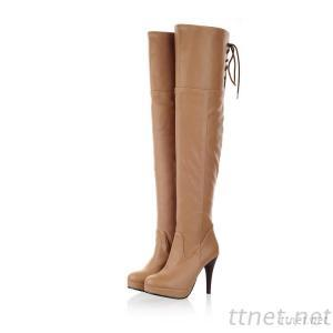 2013 New Autumn And Winter Shoes Stiletto Boots Lace Knee Length Boots