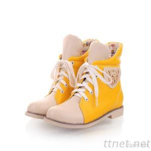 2013 Korean Version Of The New Winter Shoes Women'S Boots Flat-Bottomed Hit The Color Fresh