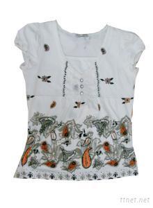 Ladies 100% Cotton V-Neck T-Shirts