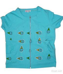 Women Knitted Zipper Cotton T-Shirts