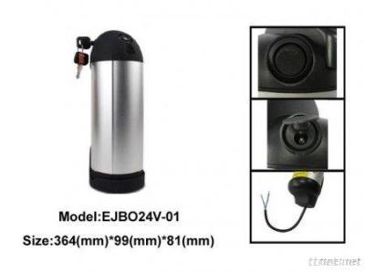 24V 11.6Ah Bottle-Shape Li-Ion Battery Pack For E-Bike