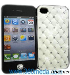 White Leather Hard Case Cover