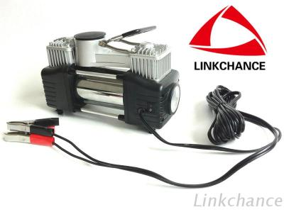 Auto Air Compressor Double Cylinders With Light