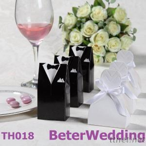 Bride And Groom Wedding Favor Boxes, Candy Bag Chocolate Box Dates