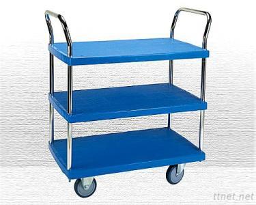 3 Shelf Plastic Trolley(PHL-423GS)