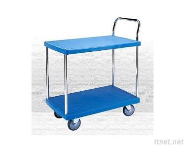 Galvanized Single Handle Plastic Trolley