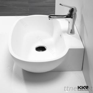KKR Factory Artificial Stone Shell Shaped Bathroom Sink