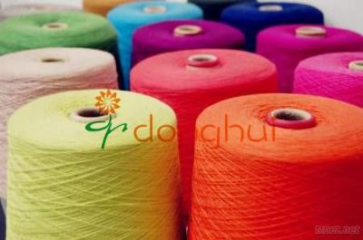 Alpaca wool and nylon blended yarn for knitting and weaving