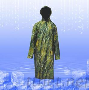 Camouflage Nylon, PVC Raincoat