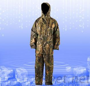 Camouflage Nylon, PVC Rain Suit