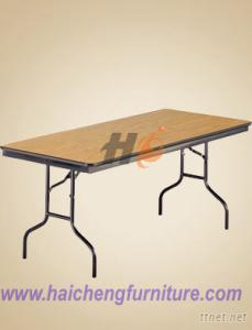 Banquet Folding Table, Plywood Table