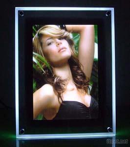 Charming Girl with Crystal Led Light Panel Enjoying the Life