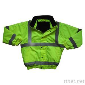 100% Polyester Winter Parka Reflective Hi Vis Work Jackets