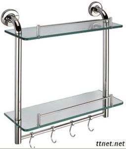 Double Layer Glass Shelf