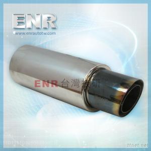 T129-102-5-BLK blue titanium muffler